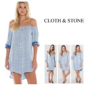 Cloth & stone Anthropologie off the shoulder dress